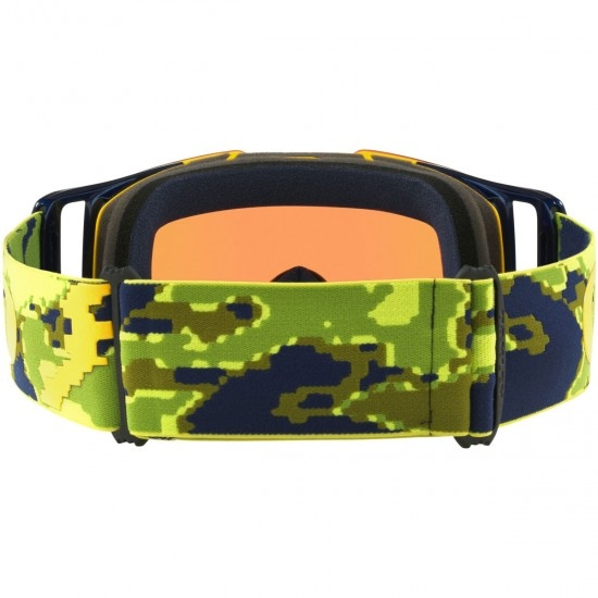 OAKLEY Front Line Thermo Camo Green / Yellow / Prizm MX Jade Iridium Mask / Goggle