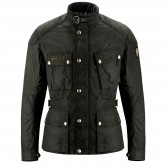 BELSTAFF McGee Waxed Nylon Cotton Black Brown