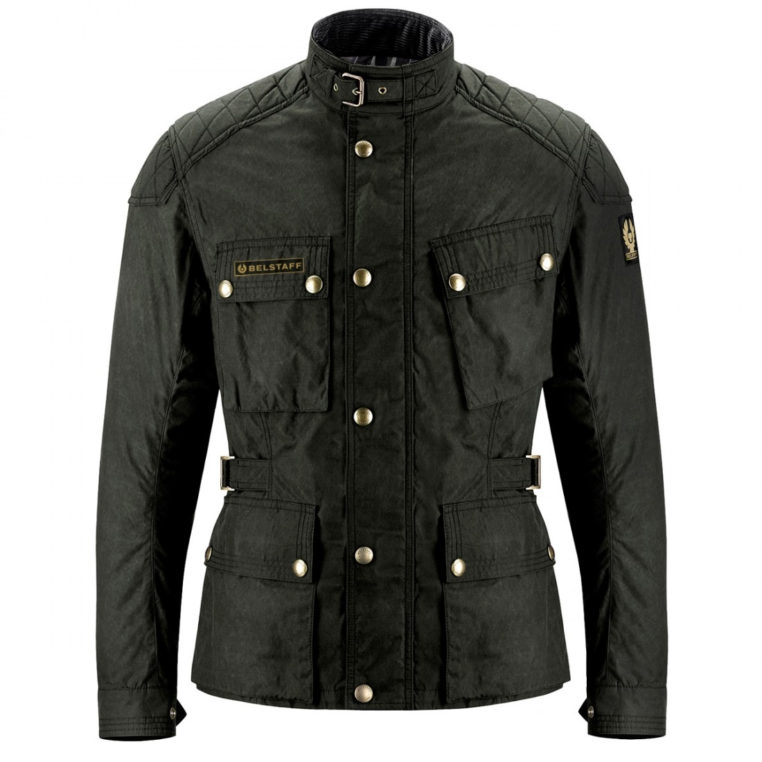 bc7f884643 BELSTAFF McGee Waxed Nylon Cotton Black Brown