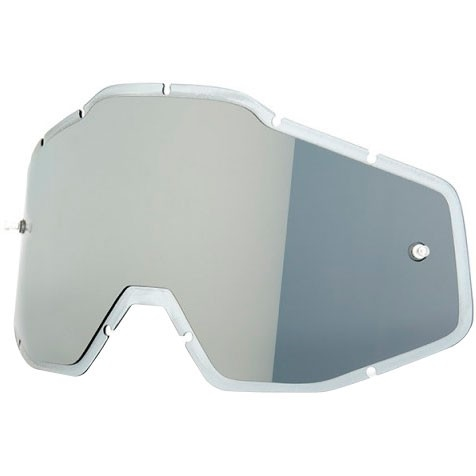 100% Injected Anti-Fog Hiper Silver Flash Mirror Mask / Goggle