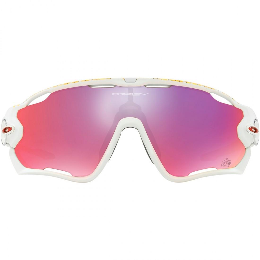 98f4eb1fe0 OAKLEY Jawbreaker Tour de France Matte White   Prizm Road Mask   Goggle