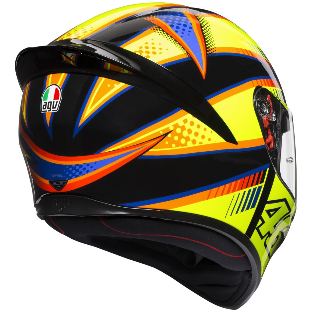 casque agv k 1 rossi soleluna 2015 motocard. Black Bedroom Furniture Sets. Home Design Ideas