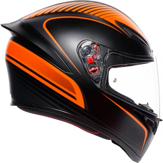 AGV K-1 Warmup Black / Orange Helmet