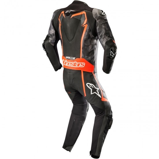 Tuta ALPINESTARS GP Plus Camo Professional Black Camo / Red Fluo