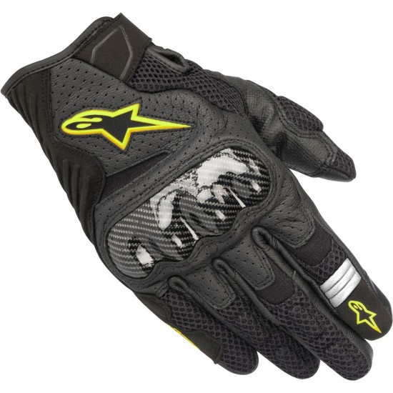 Guantes ALPINESTARS SMX-1 Air V2 Black / Yellow Fluo