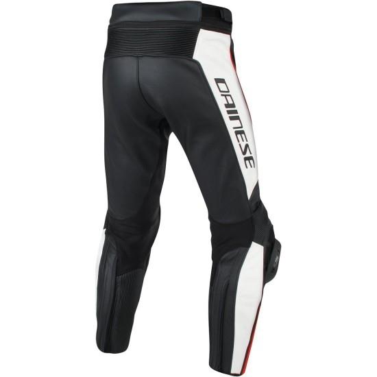 Pantalon DAINESE Misano Estiva Black / White / Fluo-Red