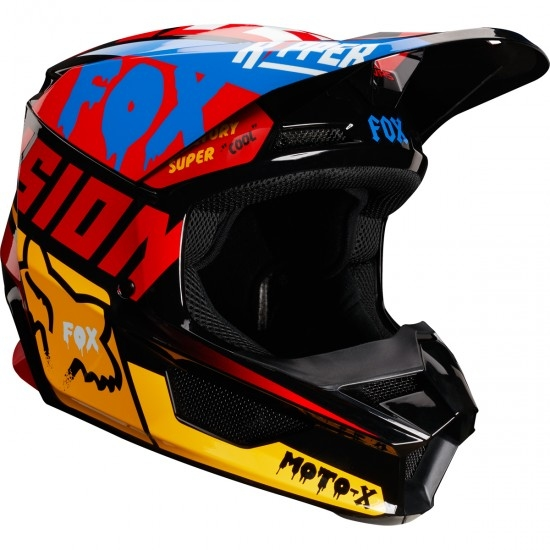Casco FOX V1 Czar 2019 Black / Yellow
