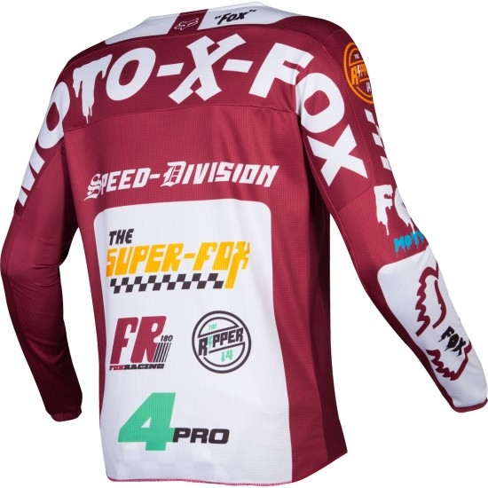 Maillot off road FOX 180 2019 Czar Cardinal