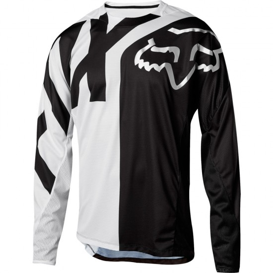 Maillot FOX Demo LS Junior White / Black