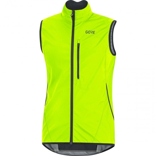 GORE C3 Gore Windstopper Light Neon Yellow / Black Vest
