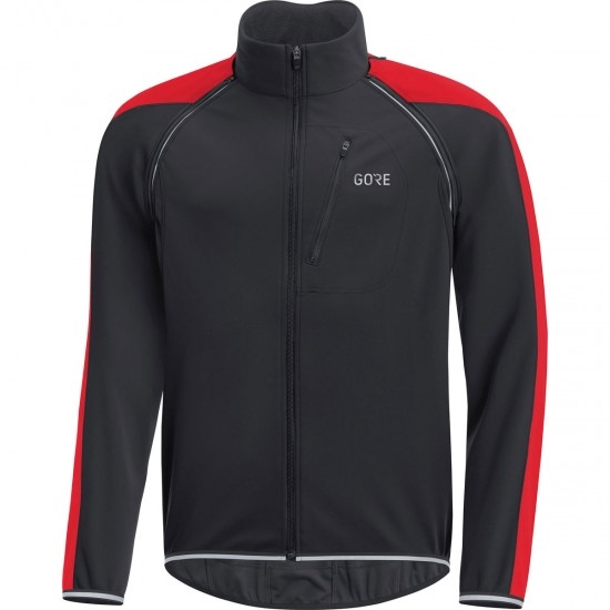 GORE C3 Gore Windstopper Phantom Zip-Off Black / Red Jacket