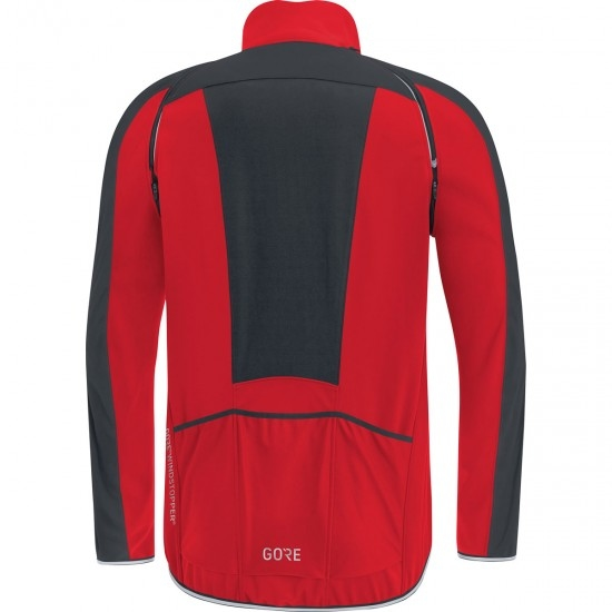 GORE C3 Gore Windstopper Phantom Zip-Off  Red / Black Jacket