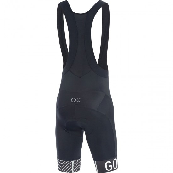 Culotte GORE C5 Optiline Bib Shorts + Black / White