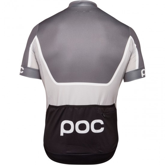 Bike Trikot POC Essential Road Block Steel Multi Grey