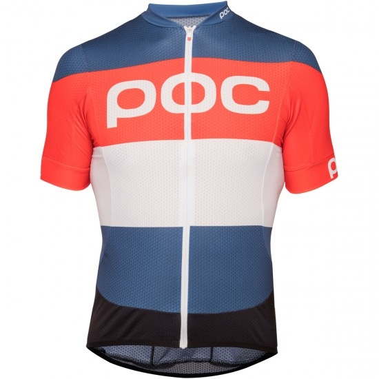 Maillot POC Essential Road Logo 2018 Prismane Multi Red