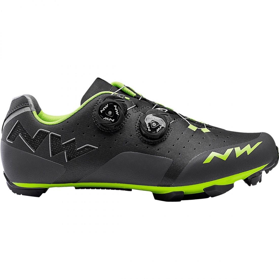 b2814e451847 NORTHWAVE Rebel Anthracite   Acid Green Shoe · Motocard