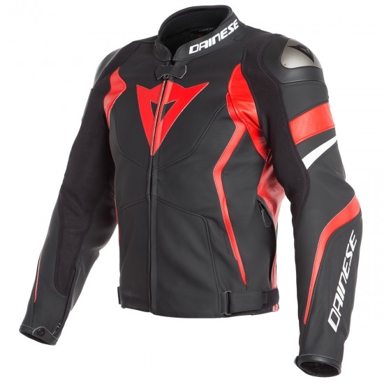 Jacke DAINESE Avro 4 Black-Matt / Lava-Red / White