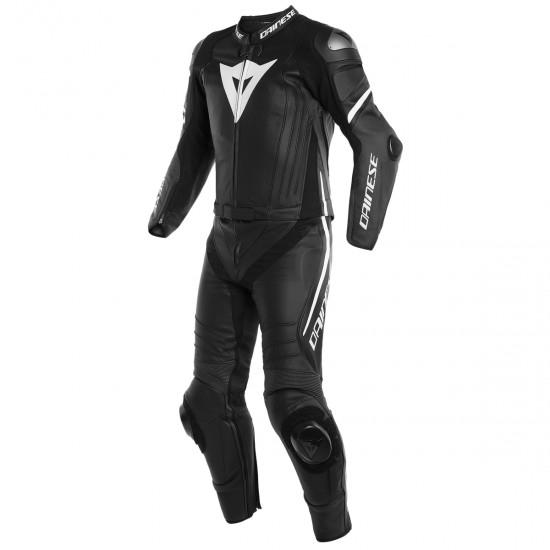 Traje / Mono DAINESE Laguna Seca 4 Black-Matt / Black-Matt / White