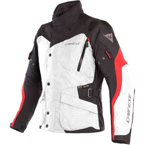DAINESE Tempest 2 D-Dry Light Grey / Black / Tour Red Jacket