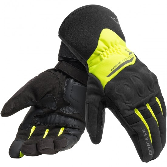 Guantes DAINESE X-Tourer D-Dry Black / Fluo-Yellow