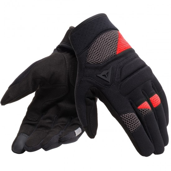 DAINESE Fogal Black / Red Gloves