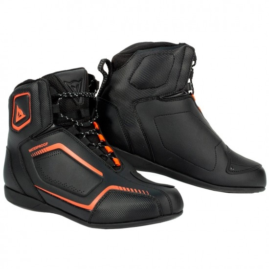 Stiefel DAINESE Raptors D-WP Black / Black / Fluo-Red