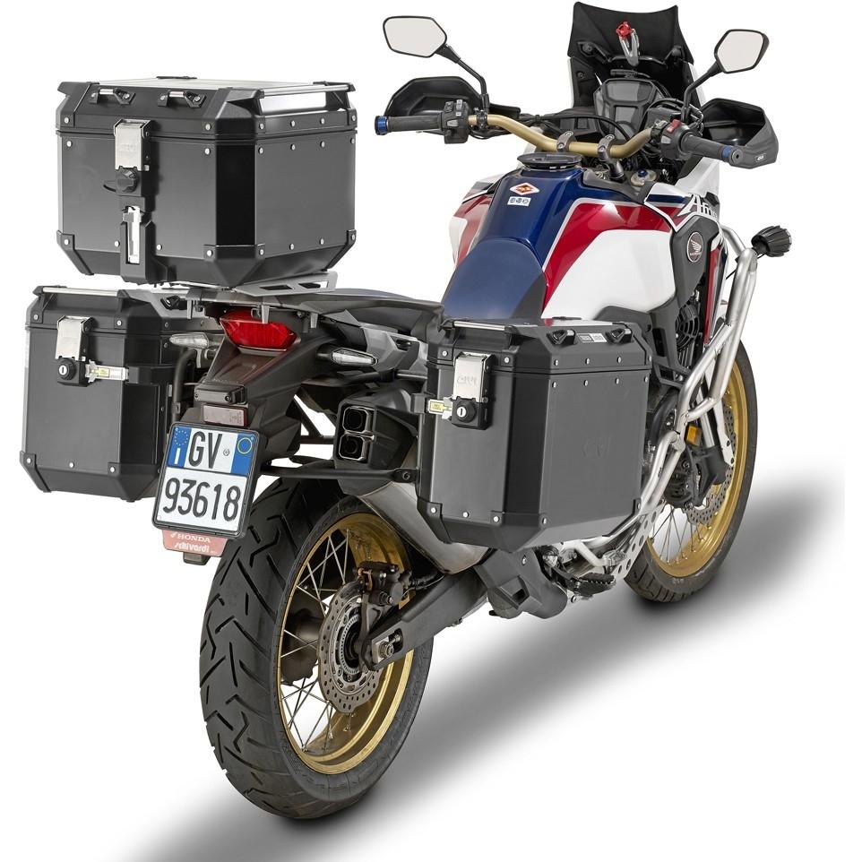 givi trekker outback 42 black line monokey case motocard. Black Bedroom Furniture Sets. Home Design Ideas