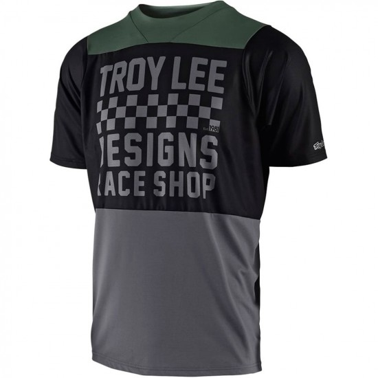 Maillot TROY LEE DESIGNS Skyline Checker 2018 Black / Gray