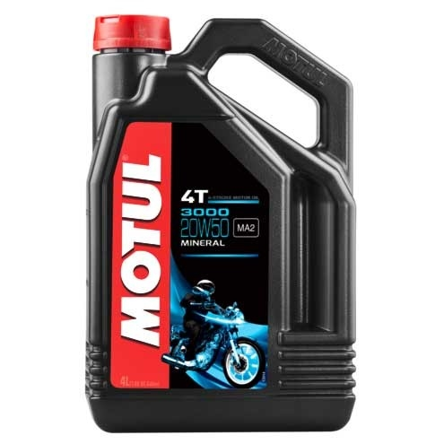 MOTUL 3000 4T 4L 20W-50 Oil and spray