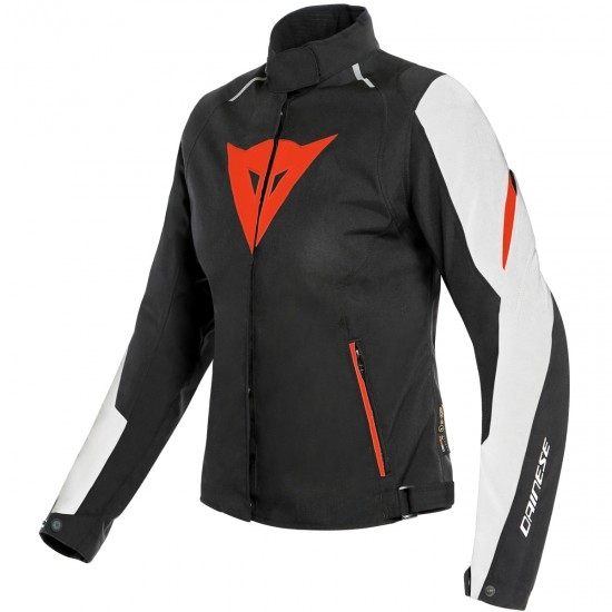 DAINESE Laguna Seca 3 D-Dry Lady White / Fluo-Red / Black Jacket