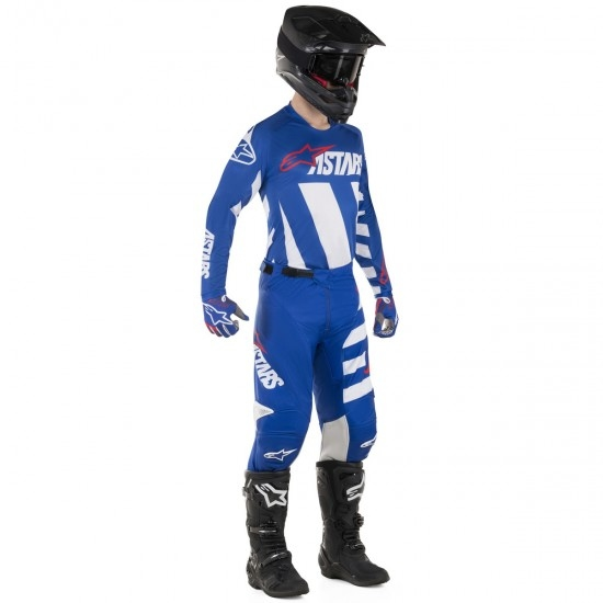 Maglietta ALPINESTARS Racer 2019 Braap Blue / White / Red