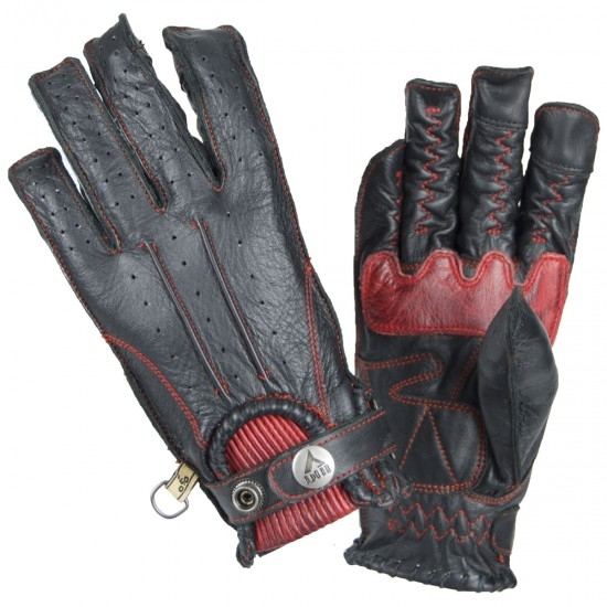 BY CITY Second Skin Black / Red Gloves
