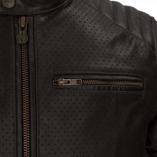 SEGURA Stripe Perfo Brown / Beige Jacket