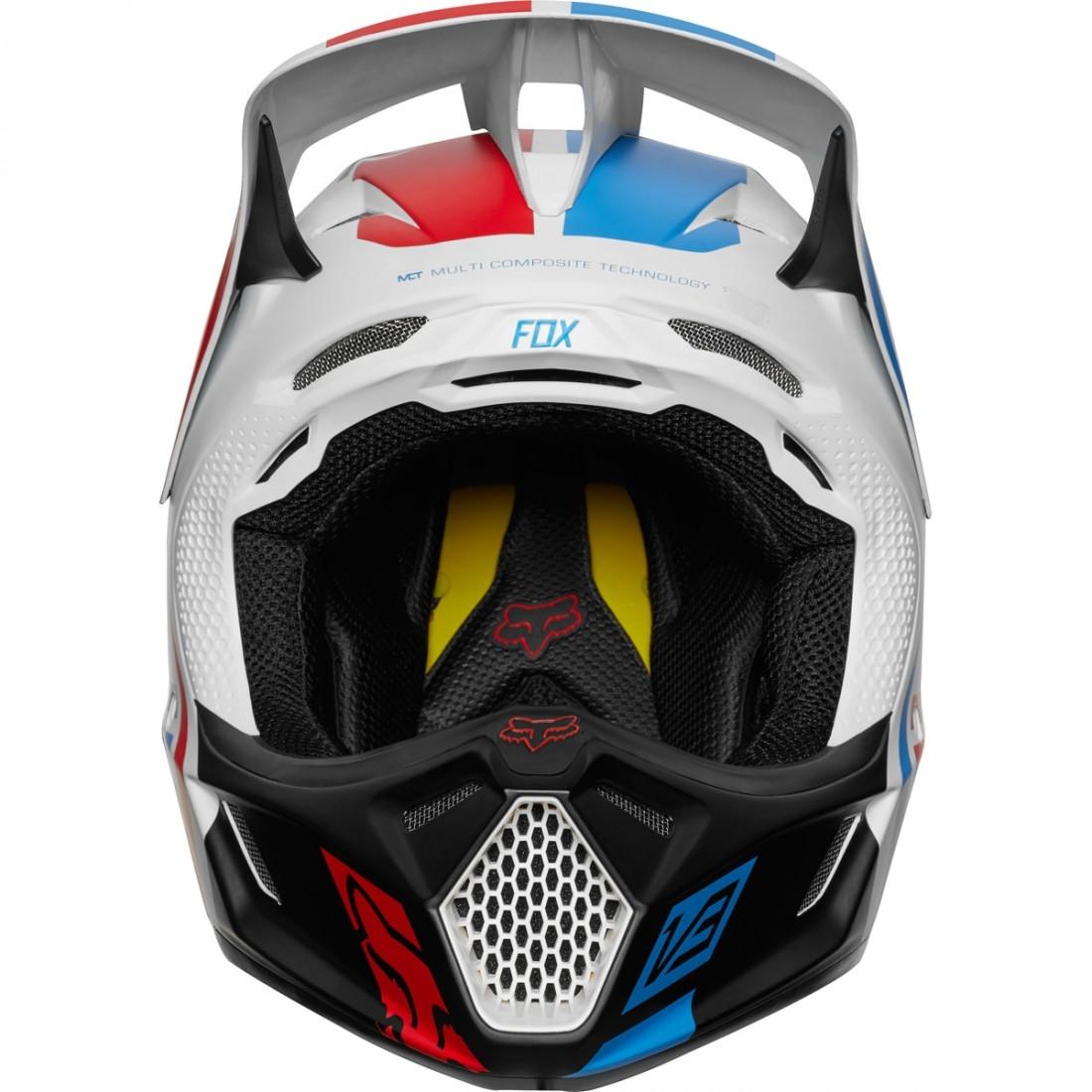 4aacf691 FOX V3 2018 Red White & True LE Helmet · Motocard