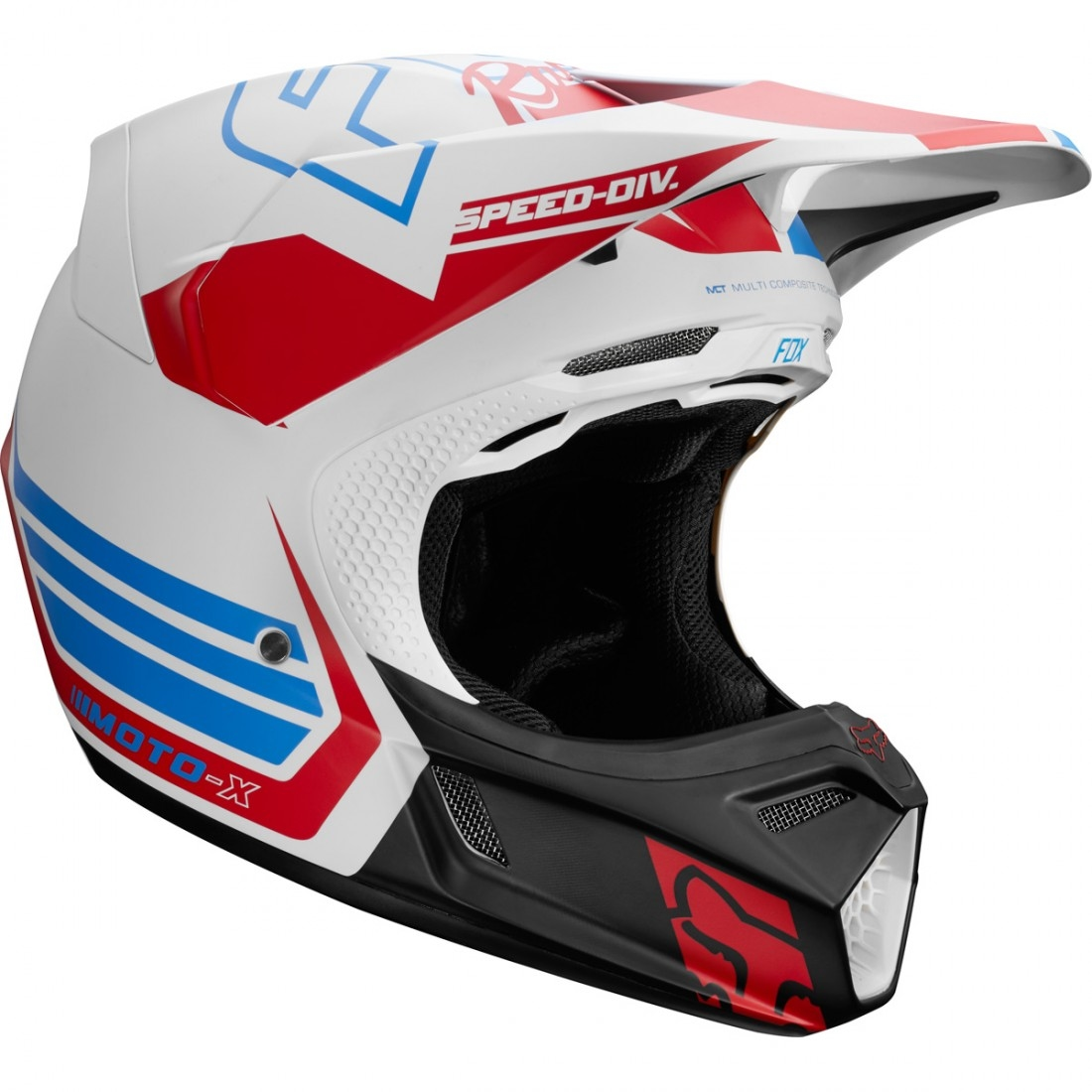 c4c852ba FOX V3 2018 Red White & True LE Helmet · Motocard