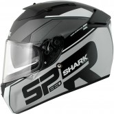 SHARK Speed-R SE Sauer Mat Black / Silver