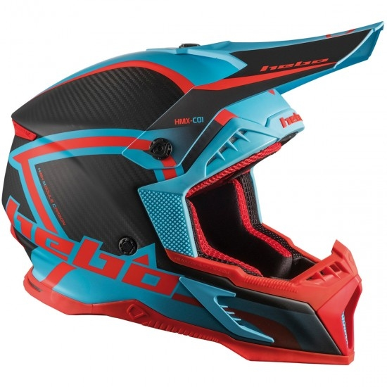 Casco HEBO Legend Carbon Turquoise