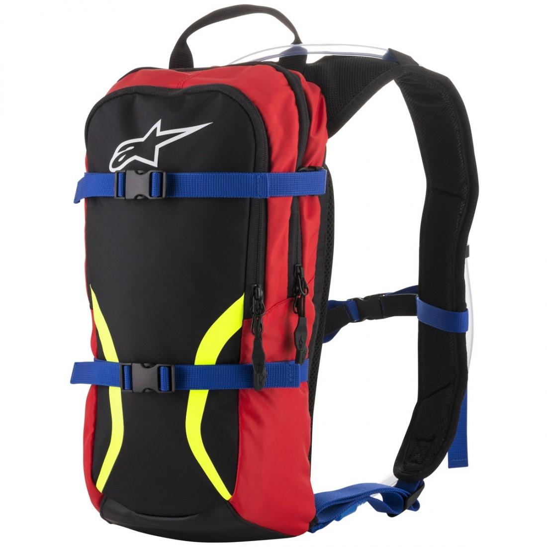 f6f0ab8d31 ALPINESTARS Iguana Hydration Black / Blue / Red / Yellow Fluo Bag · Motocard