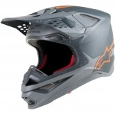 ALPINESTARS Supertech S-M10 Meta Anthracite / Grey / Orange Fluo