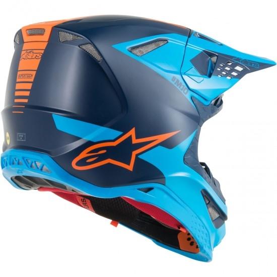 Casco ALPINESTARS Supertech S-M10 Meta Black / Aqua / Orange Fluo