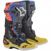 Tech 10 2020 Black / Yellow / Blue / Red Fluo