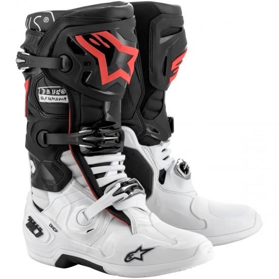Bottes ALPINESTARS Tech 10 Deus Ex Machina LE Black / White / Red