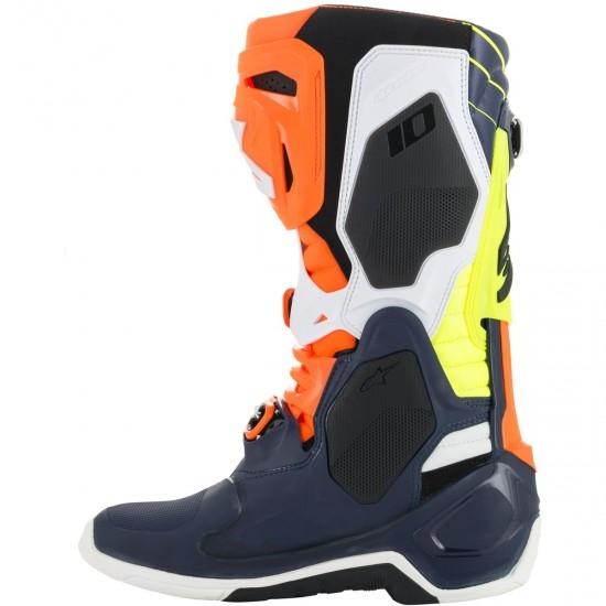 Stiefel ALPINESTARS Tech 10 2020 Nations19 LE Dark Blue / Orange / Yellow Fluo