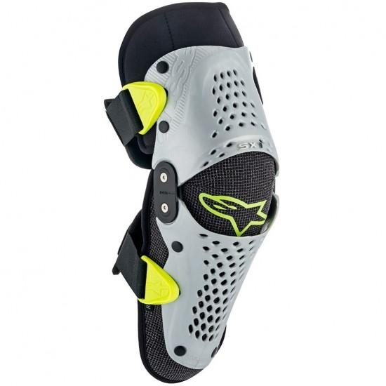 Proteccion ALPINESTARS SX-1 Junior Silver / Yellow Fluo