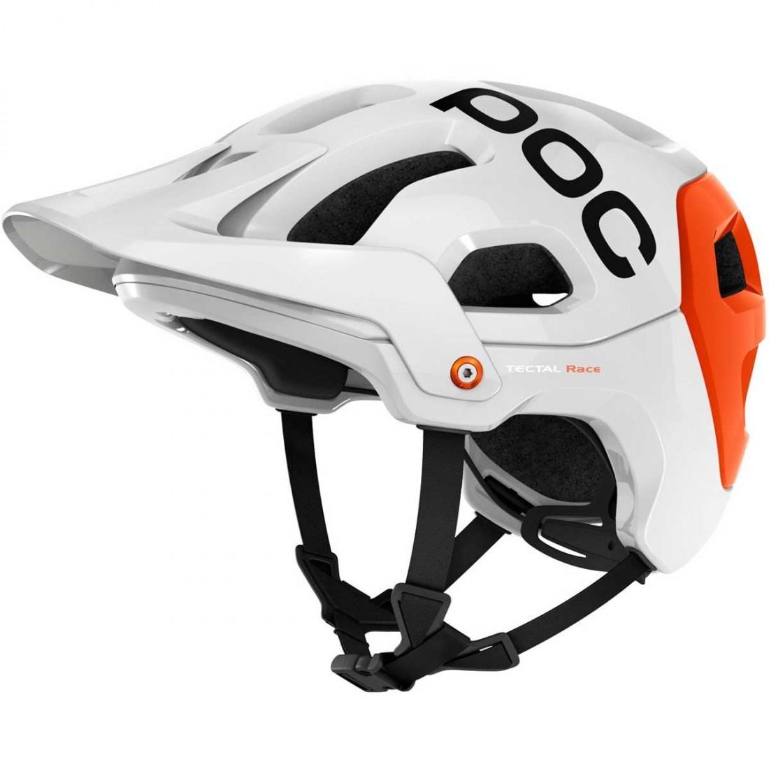 Poc Tectal Race Hydrogen White Iron Orange Helmet