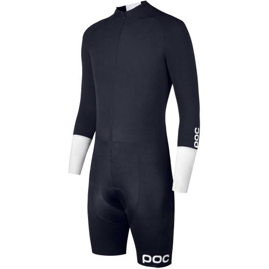 Maglia POC Aero TT Suit Navy Black / Hydrogen White