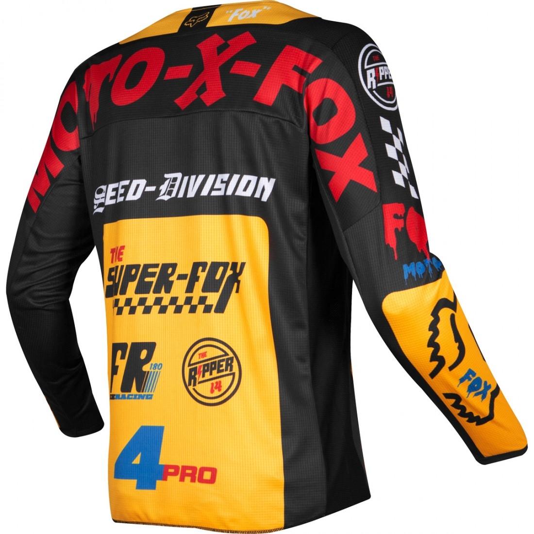 879931407 FOX 180 2019 Junior Czar Black   Yellow Jersey · Motocard