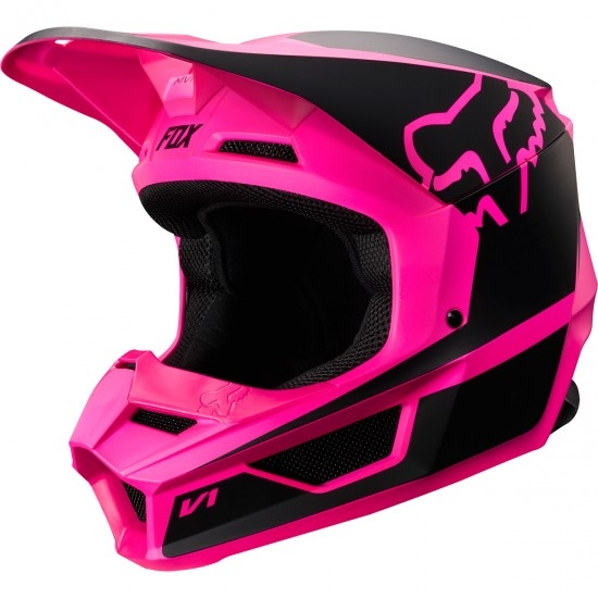 Casque FOX V1 Przm 2019 Junior Black / Pink