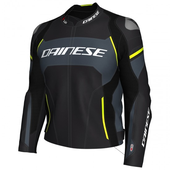 Chaqueta DAINESE Racing 3 D-Air Black / Harcoal Grey / Fluo-Yellow