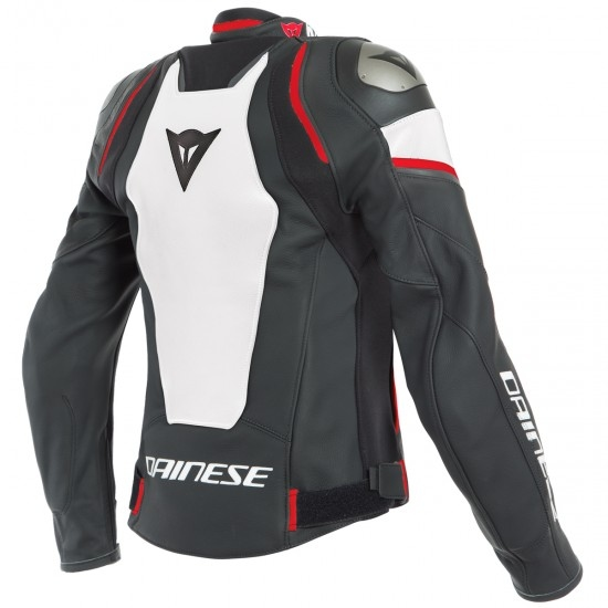 Jacke DAINESE Racing 3 D-Air Black / White / Lava-Red